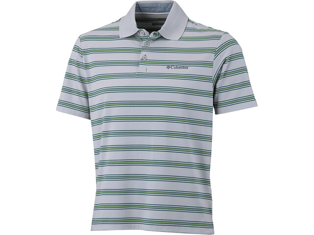 Columbia BIG Smoke II Stripe Polo Herrer, clean green